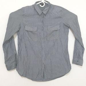 Express Women's Medium Light Long Sleeve Button Up